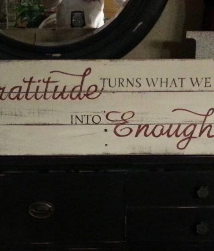 Gratitude turns what we have into enough. Love this saying.