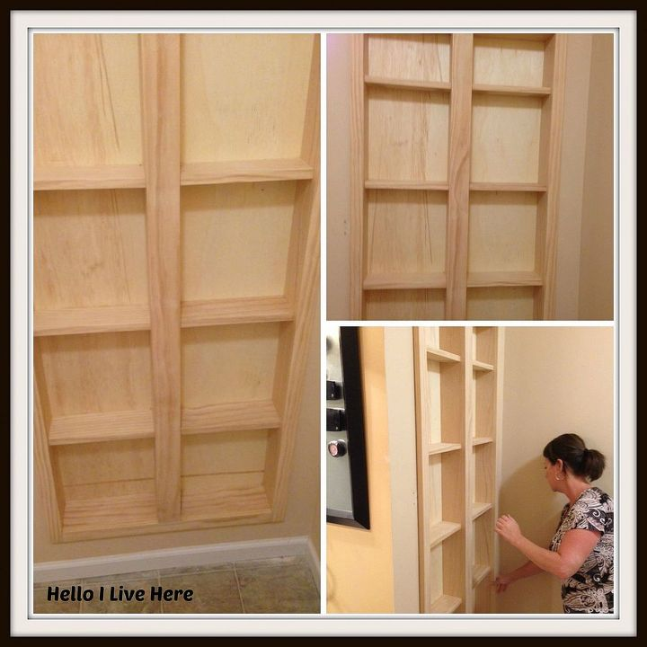 Dry fit the master bathroom storage cabinet.