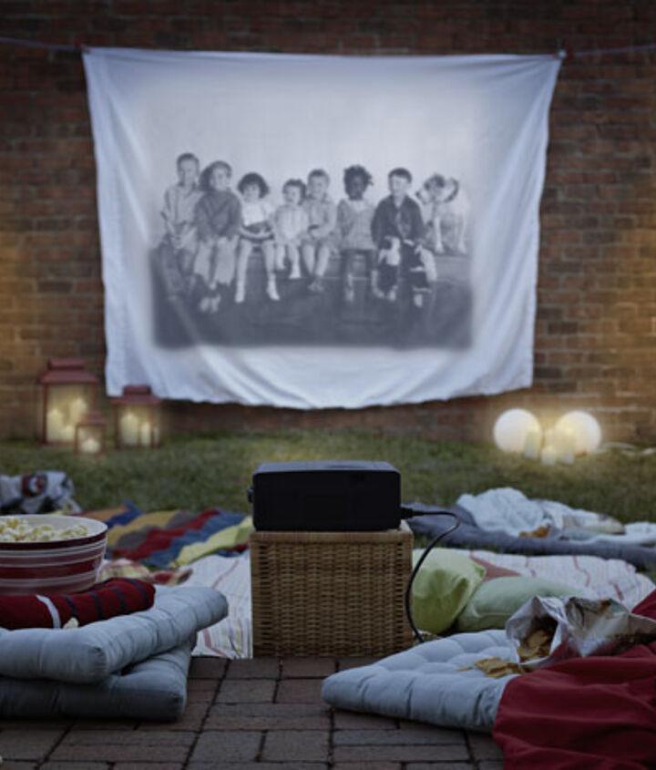 hosting a backyard movie night, outdoor living