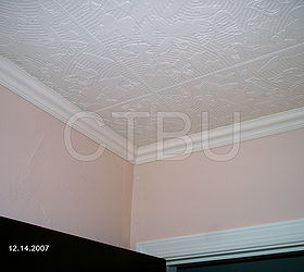 Diy Styrofoam Ceiling Tile Over Water Stained Popcorn Ceiling, Diy, Home  Maintenance Repairs,