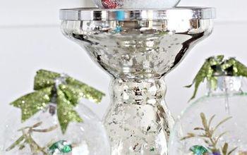 snow globe glass ornaments, crafts, seasonal holiday decor