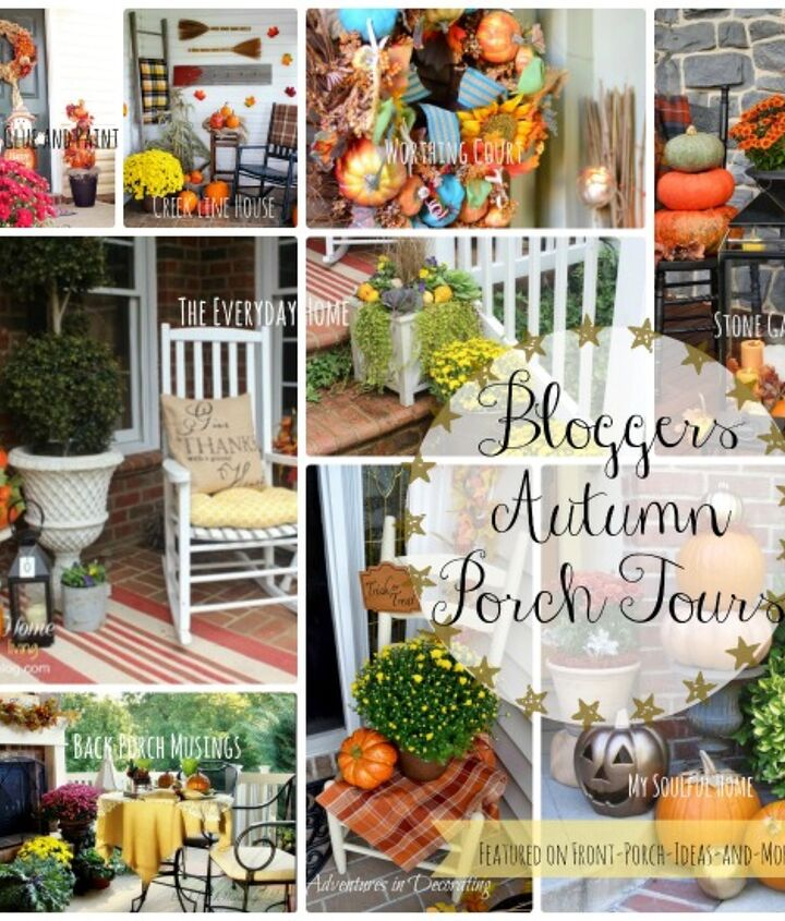 Tours of 23 Autumn Porches - Featured on Front Porch Ideas and More