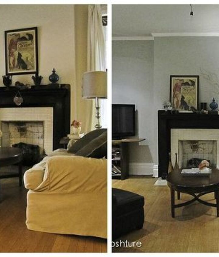 side by side before and after furnished