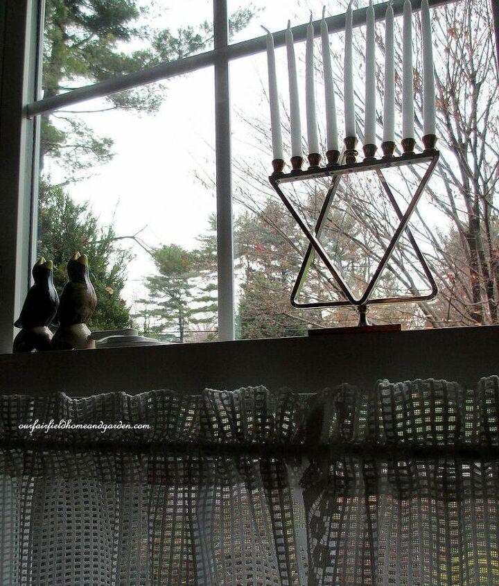 menorah in the window