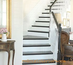 Wonderful How To Paint A Staircase Black And White With All The Details, Diy, Painting