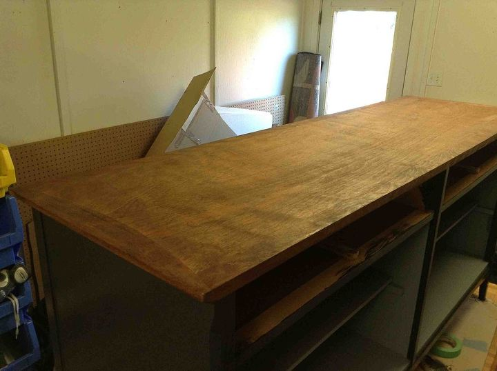 vintage 1950 s heywood wakefield china cabinet, painted furniture