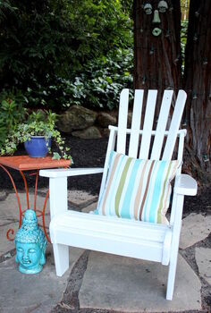 spruce up your outdoor adirondack chairs, outdoor furniture, outdoor living, painted furniture