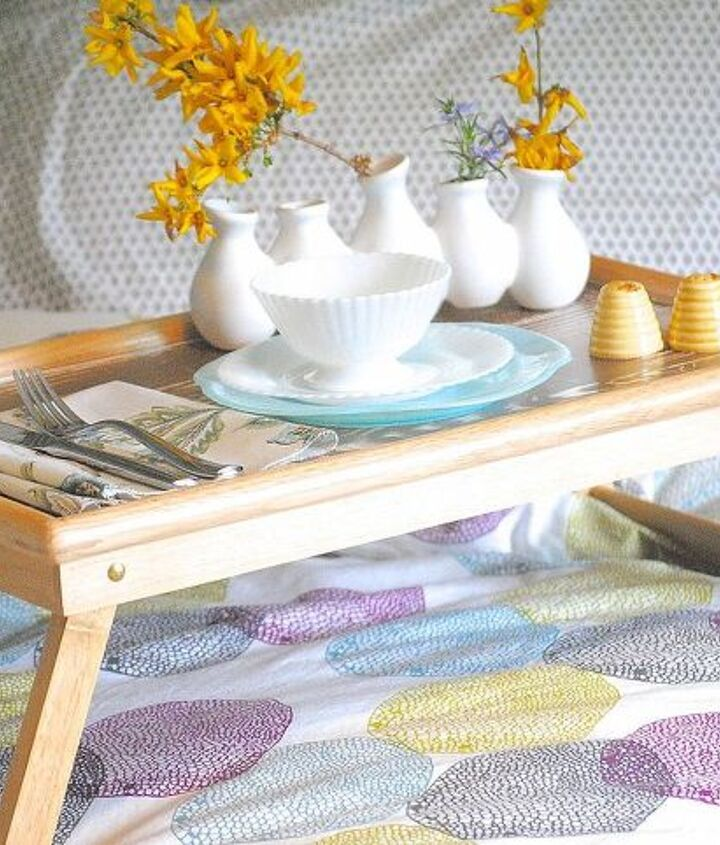 how to paint a faux bois finish, painting, All set for breakfast in bed with a vintage china and your glam faux bois tray