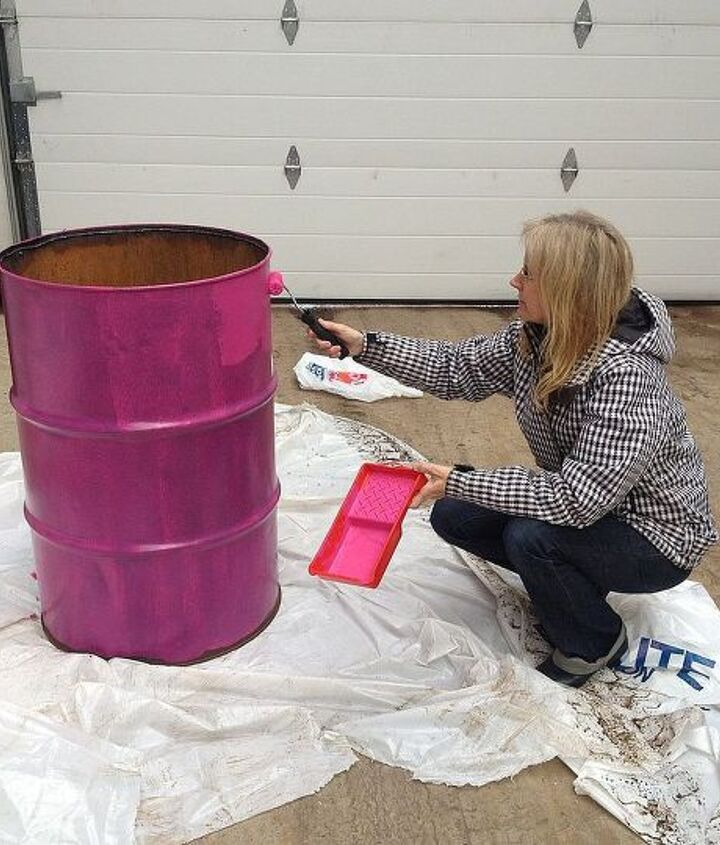 Step 2:  Paint several coats of latex paint to cover.