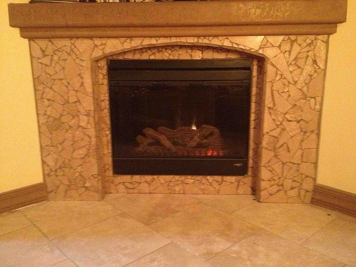 fireplace, diy, fireplaces mantels, Fireplace by hubby and I