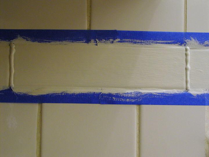 how to make plain ceramic tiles look like expensive designer tiles, diy, kitchen backsplash, kitchen design, painting