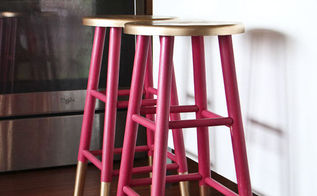 gold dipped bar stools, painted furniture