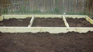 , Raised bed before before planting veggies