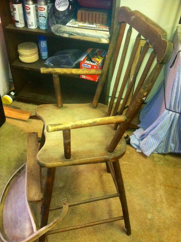 ugly duckling 1920 highchair to gorgeous heirloom, painted furniture