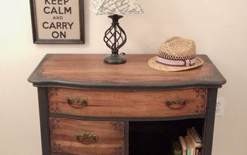 salvaged thrift store dresser, painted furniture