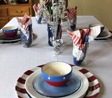4th of july tablescape, living room ideas, patriotic decor ideas, seasonal holiday decor