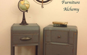art deco nightstands makeover, chalk paint, painted furniture