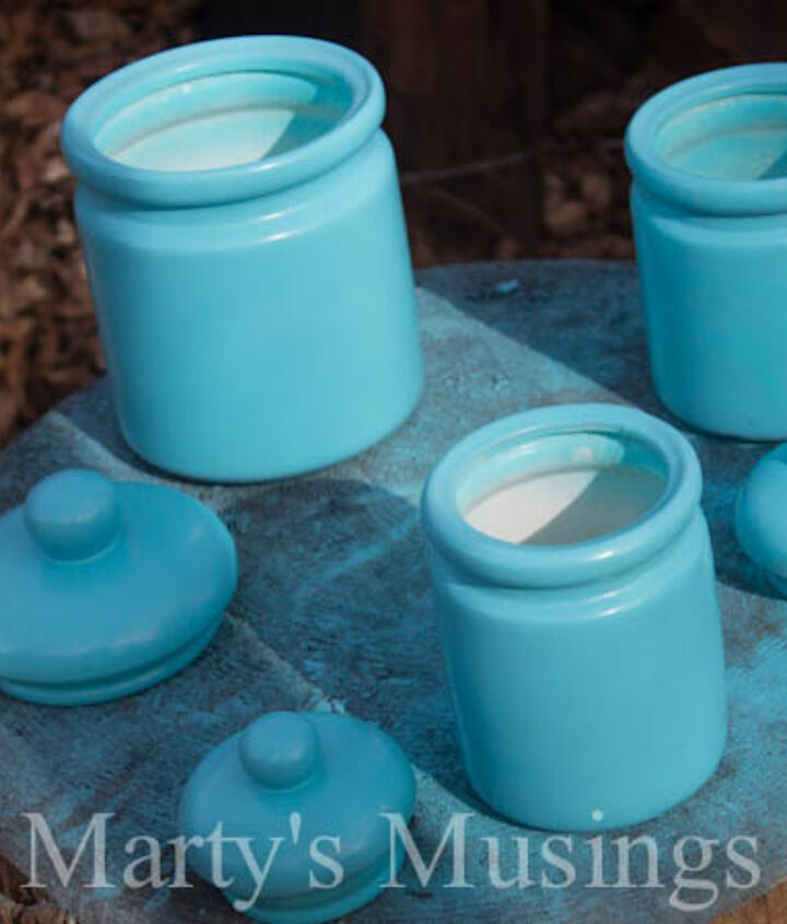 Simple spray paint changes the canisters completely.