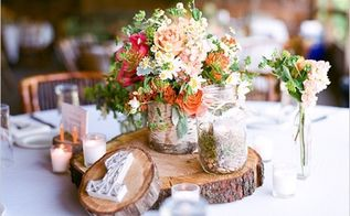 rustic wedding decorations diy style, crafts, home decor, My mum used to have some of these old wood cuts to place hot pots on them With some imagination they make a fascinating reception table centrepiece