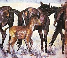 wild horse painting, crafts, Wild horse Painting