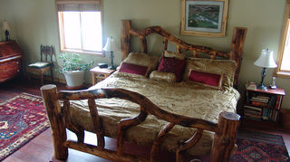 q how do you redecorate on a non existtent budget, bedroom ideas, home decor, Aspen log bed