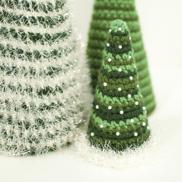 a trio of pretty christmas trees, christmas decorations, crafts, seasonal holiday decor