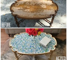 Coffee Table With A Bright New Look, Painted Furniture, 1 In The Before  Photo