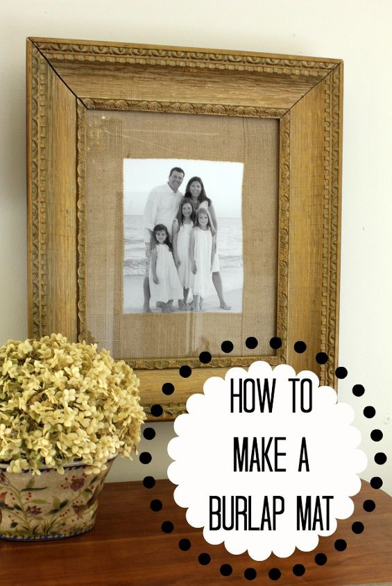 How To Make A Burlap Mat For A Picture Hometalk