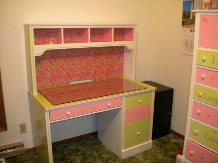 Re painted Sauder desk