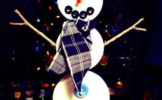 jar lid snowman, crafts, seasonal holiday decor