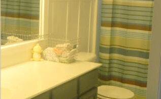 187 boys bathroom makeover, bathroom ideas, home decor, woodworking projects, Navy blue vanity