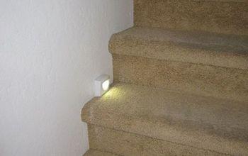 Motion sensor lights on stairs