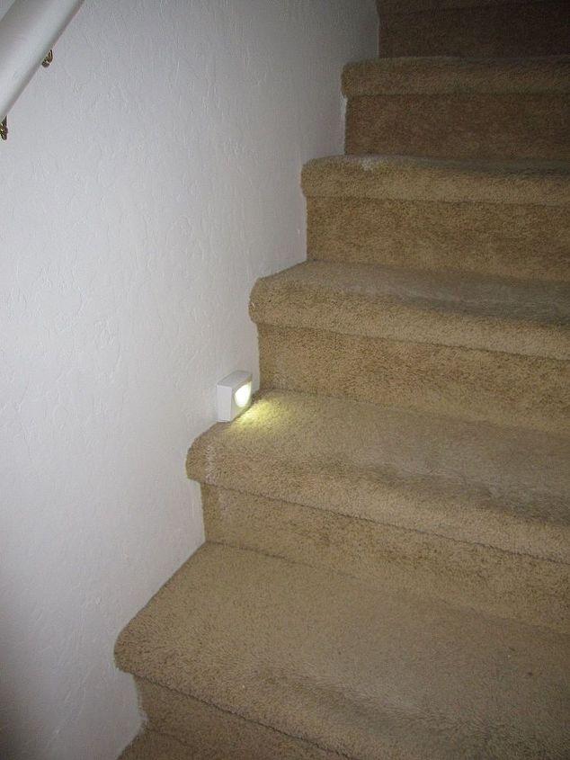 motion sensor lights on stairs, lighting, stairs