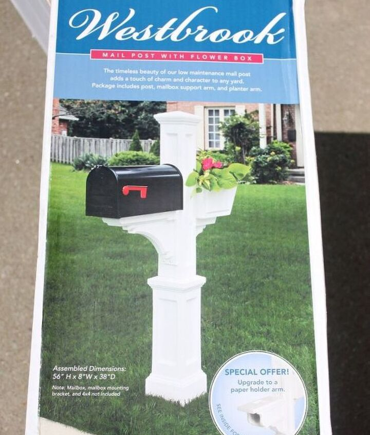 This is the mailbox post I purchased from Lowes.