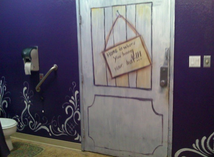 I also faux painted the door... to appear a bit more rustic than before