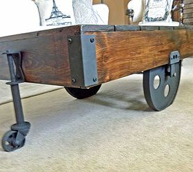 Wonderful Diy Factory Cart Coffee Table, Painted Furniture, Woodworking Projects, The  Vintage Corner Pieces