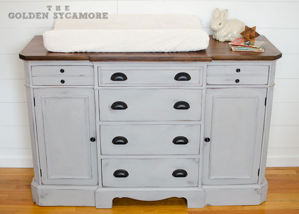 Updated Dresser Turned Changing Table Chalk Paint Painted Furniture Woodworking Projects This
