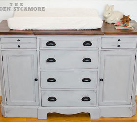 Gentil Updated Dresser Turned Changing Table, Chalk Paint, Painted Furniture,  Woodworking Projects, This