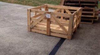 , My pallet stockpile I wonder what the neighbors think lol