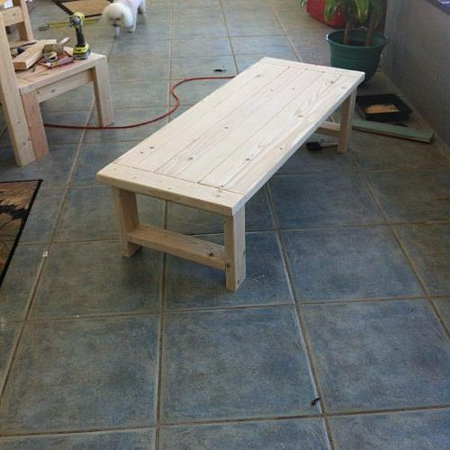 MY impromptu coffee table. No plans for this one. Just the extra wood I had left over.