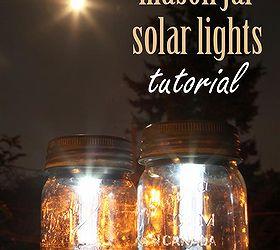 Nice Mason Jar Solar Lights, Crafts, Mason Jars, Outdoor Living