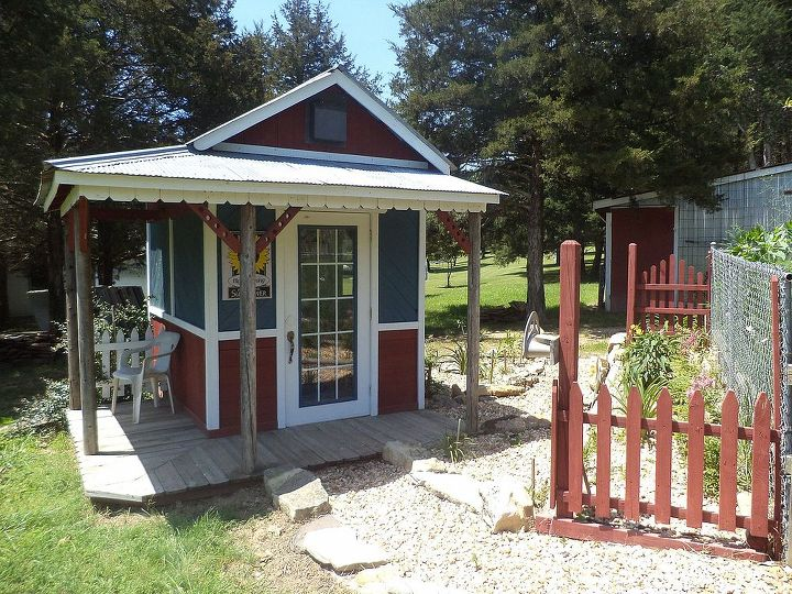 garden shedfrom reclaimed fence lumber, diy, outdoor living, woodworking projects