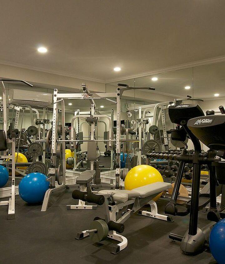Gym in basement Renovation by Titus Built, LLC.