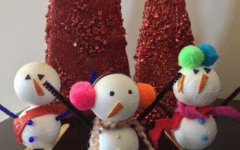 foam snowmen, crafts