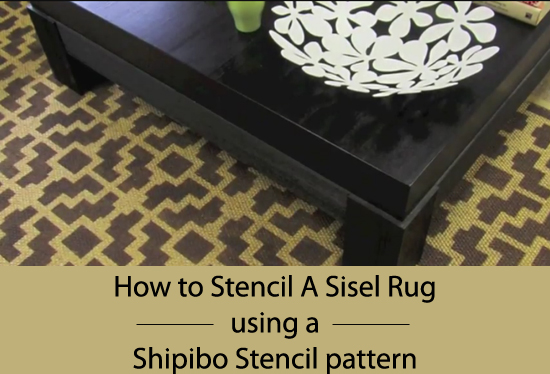 Learn how to easily stencil a Sisel Rug with a painted stencil.