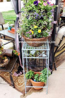 flower tower, flowers, gardening