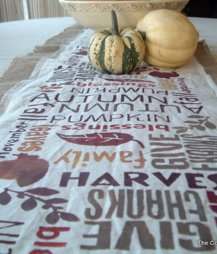 A perfect reminder to give thanks this holiday season.  http://www.thecountrychiccottage.net/2011/10/subway-art-burlap-table-runner-point-of.html