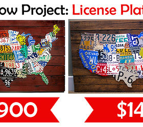 DIY Tutorial License Plate Map Of The United States Purchase