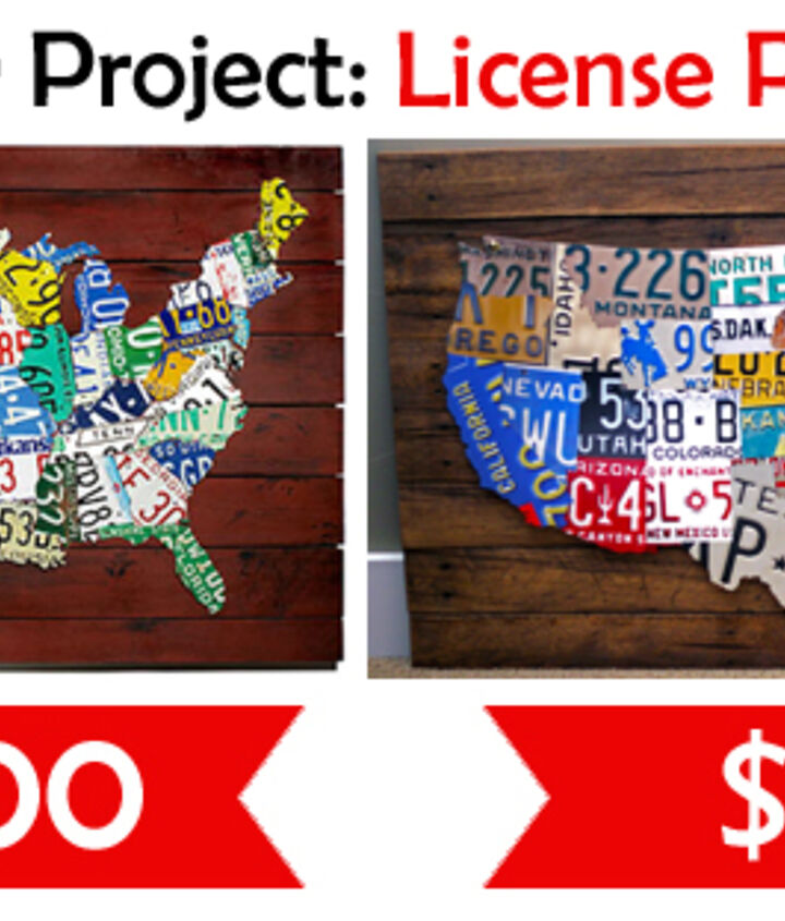 How to Save $3760 on a License Plate Map! | Hometalk
