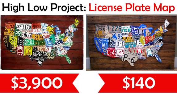 Us Map Made Out Of License Plates.How To Save 3760 On A License Plate Map Hometalk